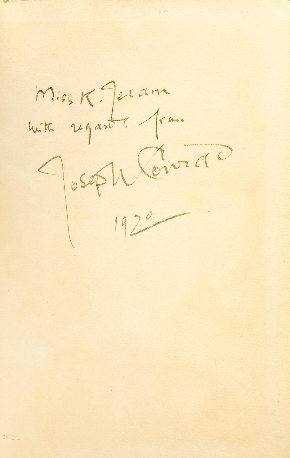 CONRAD, JOSEPH.  1857-1924.