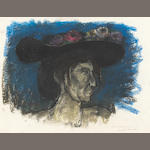 Hans Burkhardt Thordis in a Hat pastel on paper