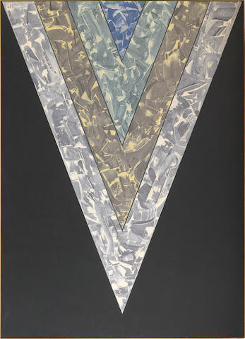 Kenneth Noland (American, b.1924) Songs: Out of Nowhere, 1984 92 13/16 x 66 3/16in (236 x 168.5cm)