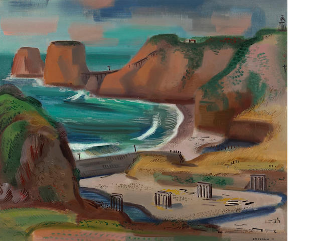 Erle Loran (American, 1905-1999)California Coast, 1941 25 x 30in