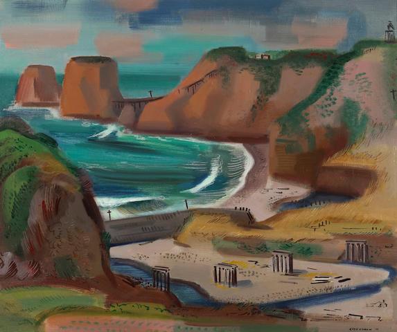 Erle Loran (American, 1905-1999)California Coast, 1941 25 x 30in