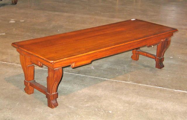 A Charles II style oak table