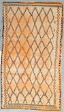 A Moroccan rug size approximately 4ft 5in x 7ft 10in