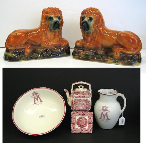 A group of English ceramics