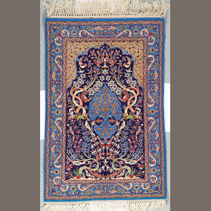 An Isphahan rug size approximately 2ft 3in x 3ft 5in