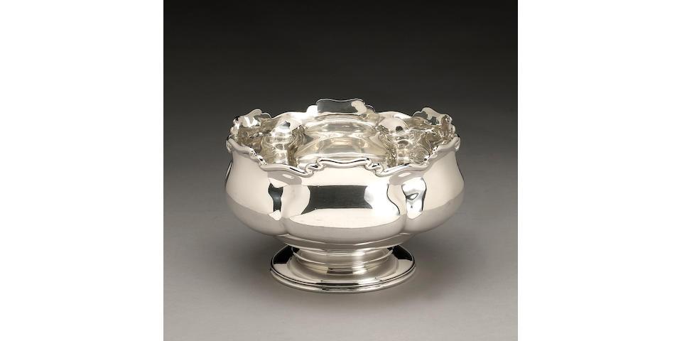 Edward VII Silver Rose Bowl in the Art Nouveau Taste