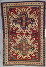 A Kazak rug Caucasian size approximately 4ft 9in x 7ft 2in