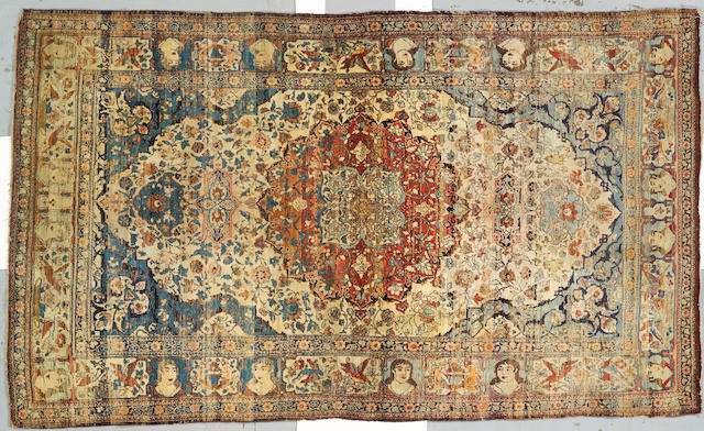An Isphahan rug South Central Persia size approximately 4ft 3in x 7ft 5in