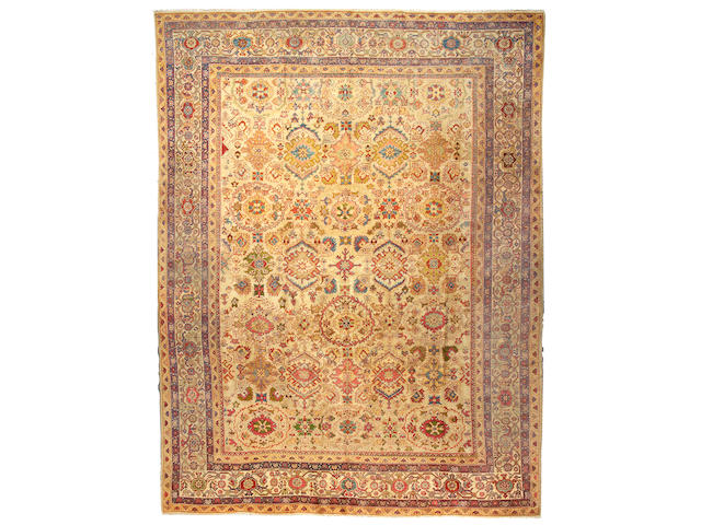 A Sultanabad carpet Central Persia size approximately 9ft 4in x 12ft 3in
