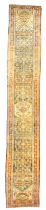 A Malayer runner Central Persia size approximately 3ft x 18ft