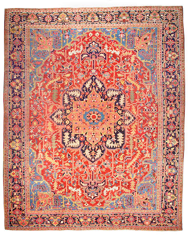 A Heriz carpet Northwest Persia size approximately 11ft 5in x 14ft 4in