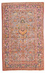 A Silk Kashan rug Central Persia size approximately 4ft 7in x 7ft