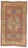 A Kazak rug Caucasian size approximately 4ft 4in x 7ft 2in