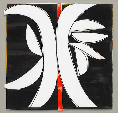 Judith Rothschild (American 1921-1993) Rubum VI 1980 acrylic on paper mounted on foam board (in reli