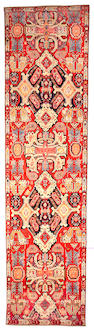A Karabagh runner Caucasian size approximately 4ft 2in x 16ft 2in