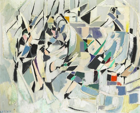 André  Lanskoy (French, 1902-1976) Untitled 23 1/2 x 28 3/4in (60 x 73cm)