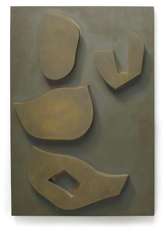 Jean Arp (French, 1887-1966) Relief architectonique végétal - Architektonisches Pflanzenrelief, 1959 15 x 1 3/4 x 10 1/4in (38 x 4 x 26cm)