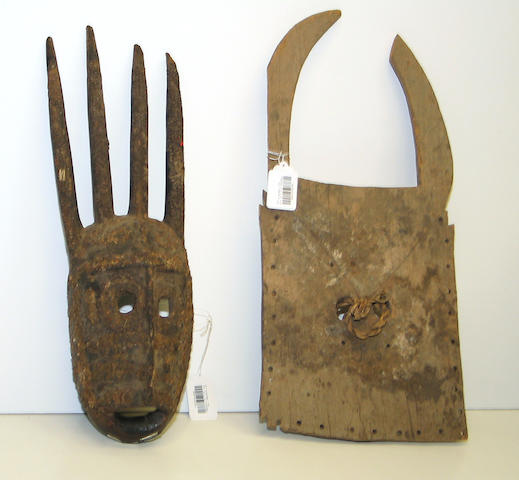 Two West African masks