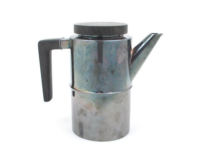 Danish Sterling and Ebony Coffee Pot by Georg Jensen