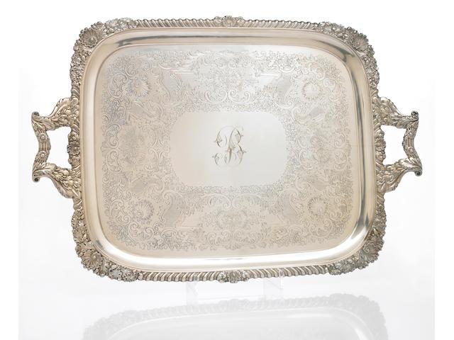 Late Victorian Silver Tea Tray in the Regency Taste