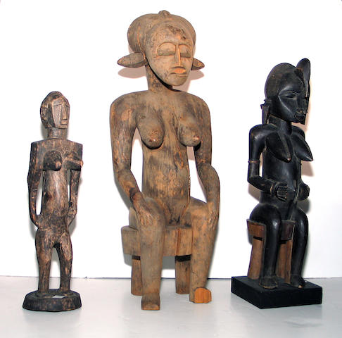 Three West African figures