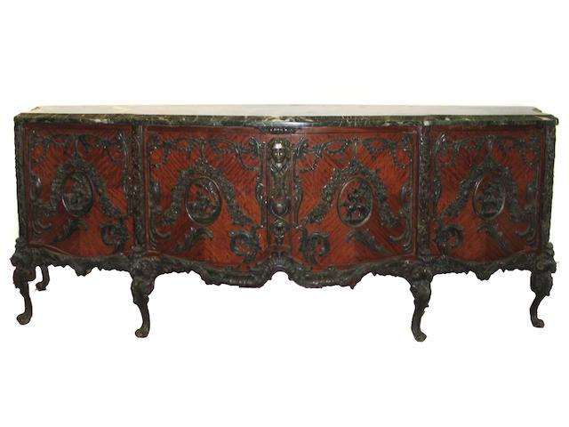 A large Louis XV style bronze mounted buffet