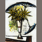 Bernard Buffet (French, 1928-1999)Untitled (Flowers in a Vase) 28 3/4 x 21 1/4in (73 x 51.4cm)