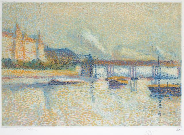 After Maximilien Luce; by Jacques Villon Londres;