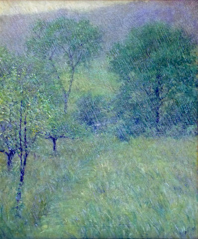 Robert Reid (American, 1862-1929) The Rain 30 x 25in