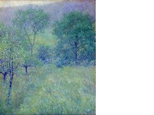 Robert Reid (American, 1862-1929) The Rain 30 x 25in (76.2 x 63.5cm)
