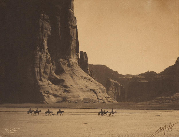 Edward S. Curtis (American, 1868-1952); Canyon de Chelley, Navaho;