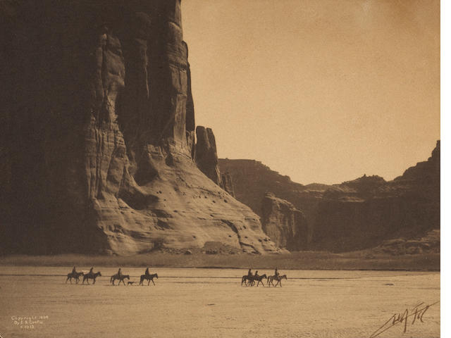 Edward S. Curtis; Canyon de Chelley, Navaho;