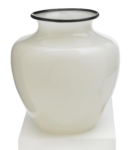 A Steuben Alabaster glass vase