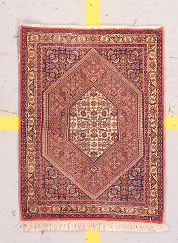 A Bidjar rug size approximately 2ft 3in x 3ft