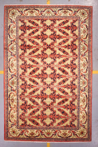 A Sarouk carpet size approximately 6ft 9in x 10ft 6in
