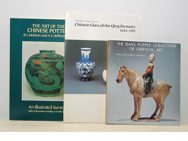 A collection of Asian art reference books, four boxes