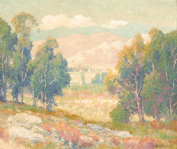 Maurice Braun (American, 1877-1941) Hills at Riverside, California 20 x 24 1/4in