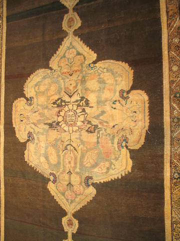 A Karabagh long carpet Caucasian size approximately 5ft 8in x 13ft 3in