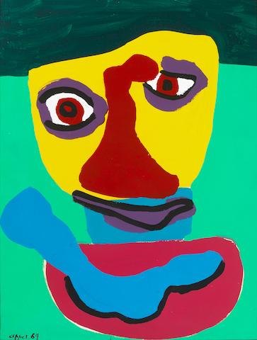 Karel Appel (Dutch, 1921-2006) Smile Again, 1969 26 x 19 7/8in (66 x 50.5cm)