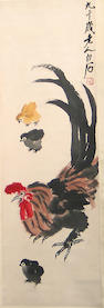After Qi Baishi(1863-1957): Chicken Familly