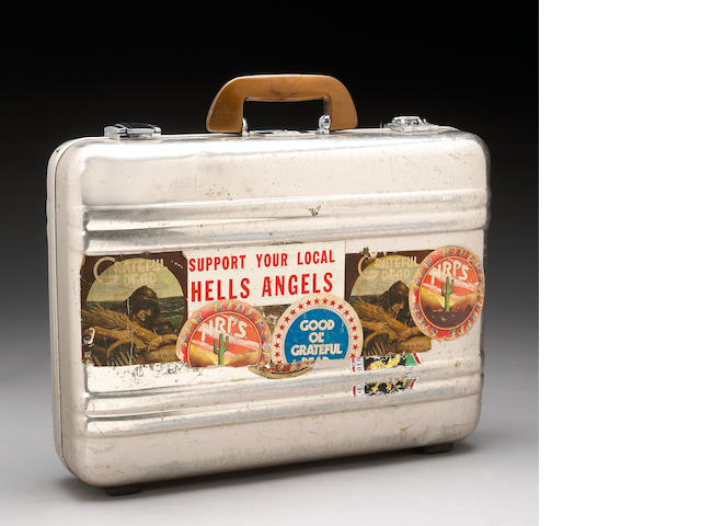 A metal attaché case used for the Grateful Dead's stash while on tour, 1970s