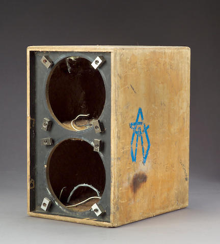 A wooden speaker box from The Wall of Sound, early 1970s