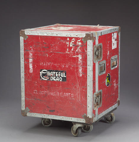 A red flight case, 1970s-1980s
