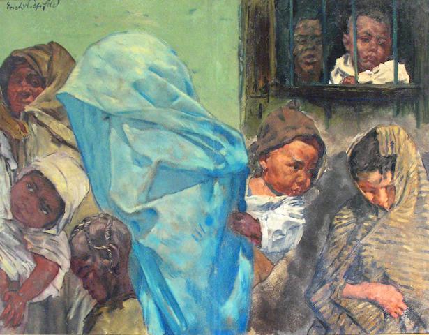 Erich Wolfsfeld (German, 1884-1956) Slavery 38 x 51in