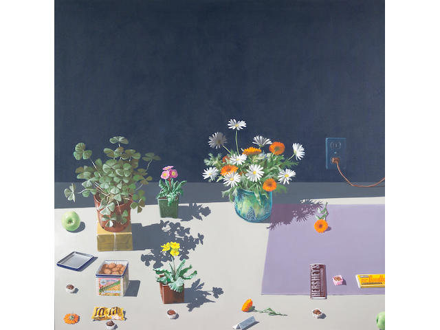 Paul Wonner (American, b.1920) Dutch Still Life with Cookies and Candy, 1984 50 x 50in (127 x 127cm)