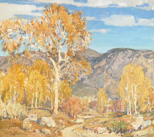 Paul Lauritz (Norwegian/American, 1889-1975) Fall Landscape 28 x 32in