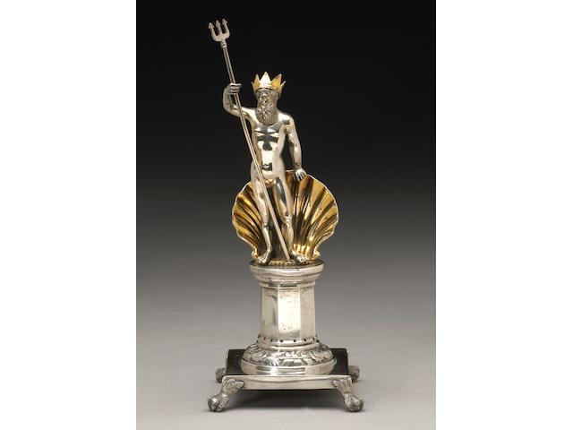 Portuguese Parcel Gilt Silver Figural Toothpick Holder