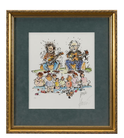 "A Jerry Garcia signed artist's proof print called ""??"", 1990s"