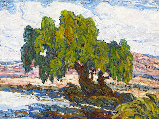 Birger Sandzen (American, 1871-1954) Old Willows 18 x 24in