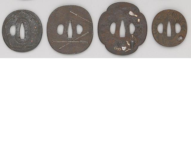 Five iron tsuba